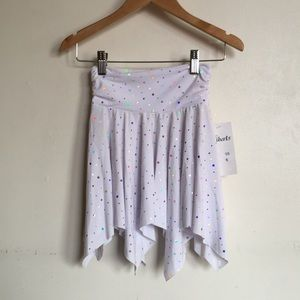 BRAND NEW!! Liberts White and Silver Dance Skirt